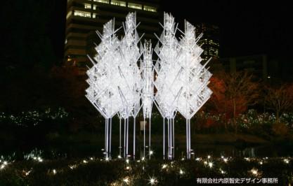 六本木ヒルズ「Artelligent Christmas 2012 毛利庭園イルミネーション -時の結晶-」