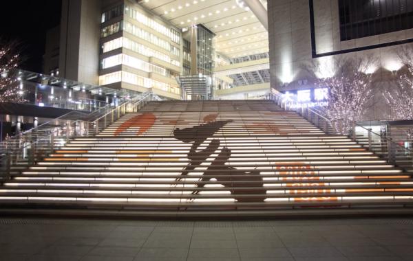 グランフロント大阪 うめきた広場 大階段 お正月 装飾