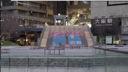 グランフロント大阪 うめきた広場 大階段 2020春 装飾